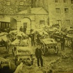 Farmers delivering barley to Allmans-Bandon Distillery, Cork - 1826-1925