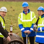 Bill Robertson, Ian Curle and Graham Stirk at The Macallan distillery