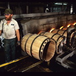 Barrels being charred